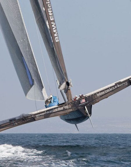 """alt=""""Catamaran from BMW Oracle on water"""""""