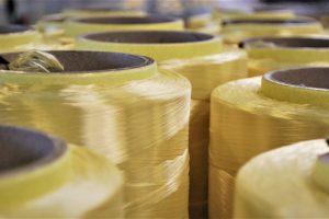 """alt=""""aramide fibres close up on roll"""""""